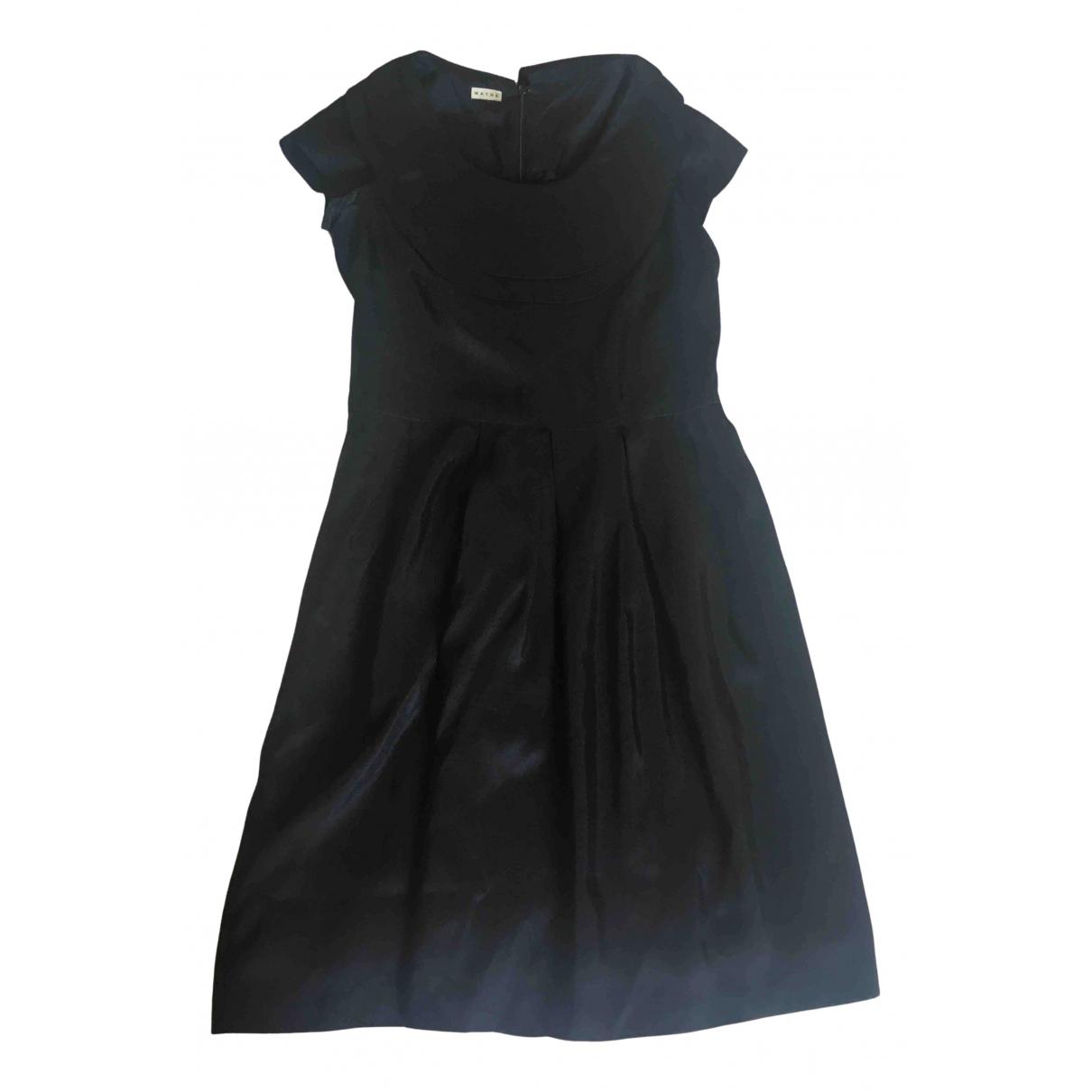 Wayne \N Kleid in  Schwarz Seide