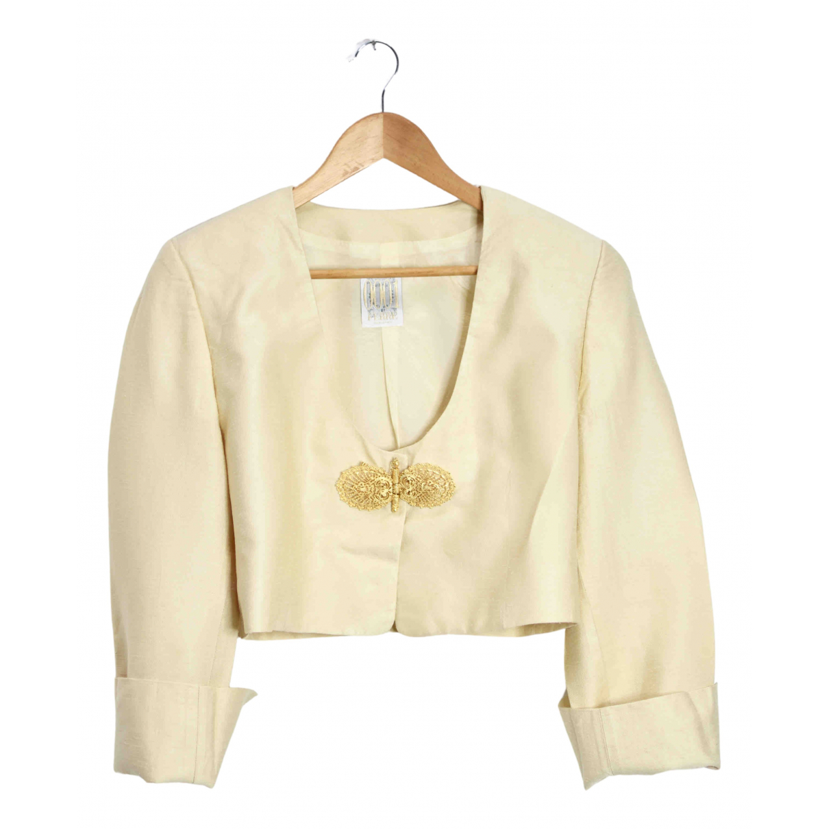 Gianfranco Ferre - Veste   pour femme en soie - dore