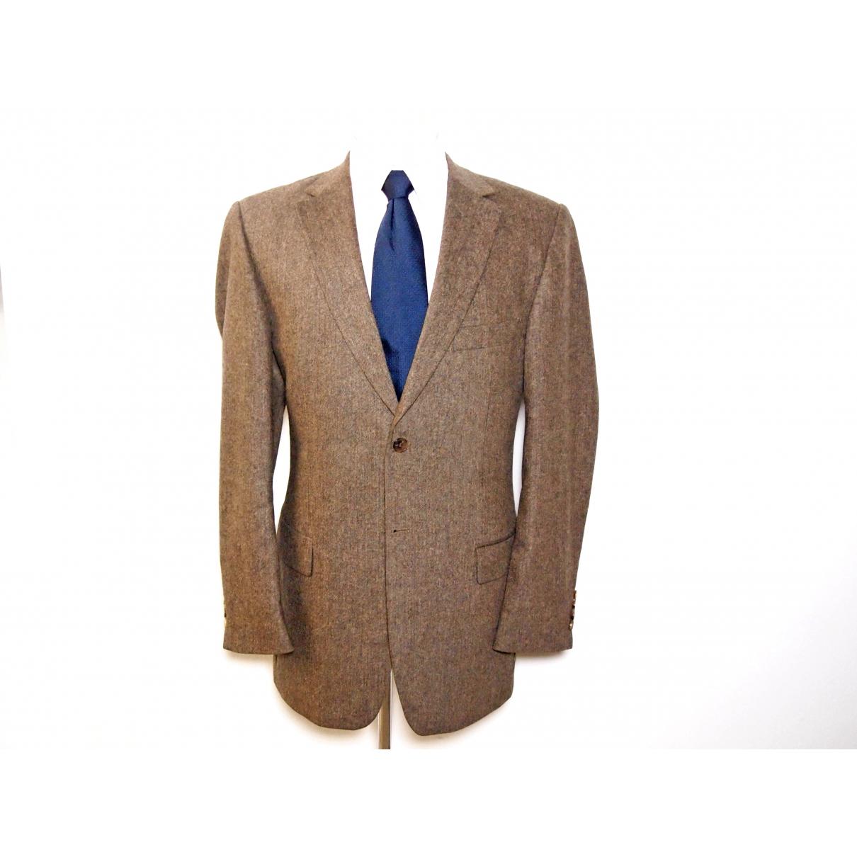 Karl Lagerfeld - Vestes.Blousons   pour homme en laine - marron