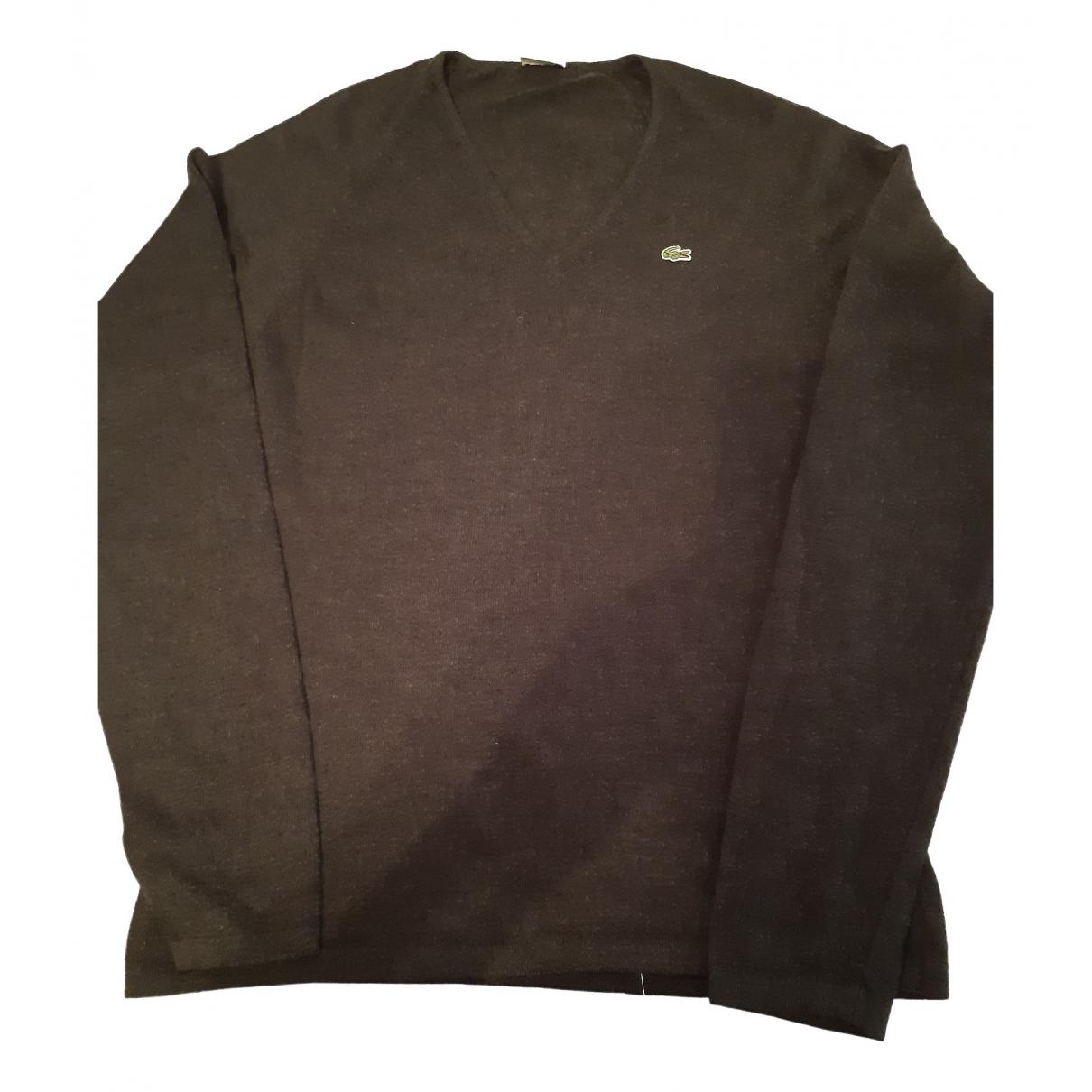 Lacoste \N Pullover.Westen.Sweatshirts  in  Grau Wolle