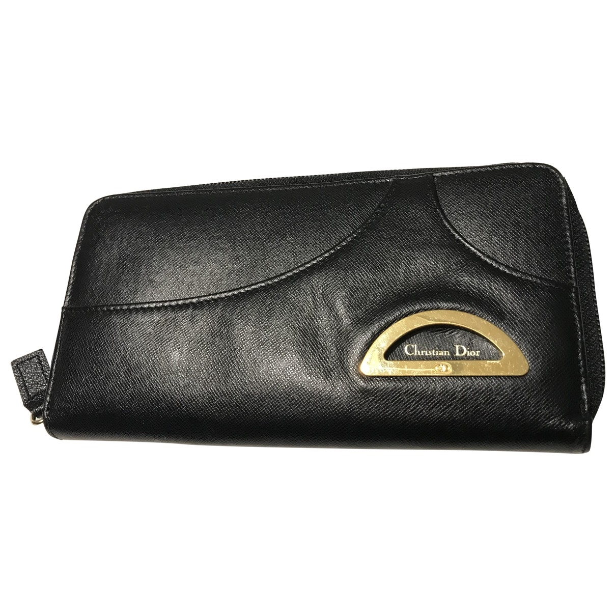 Dior - Portefeuille   pour femme en cuir - noir