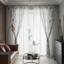 Vorhang mit Blatt Muster