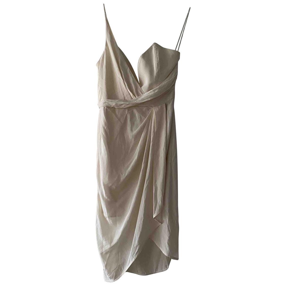 Zimmermann \N Kleid in  Ecru Seide