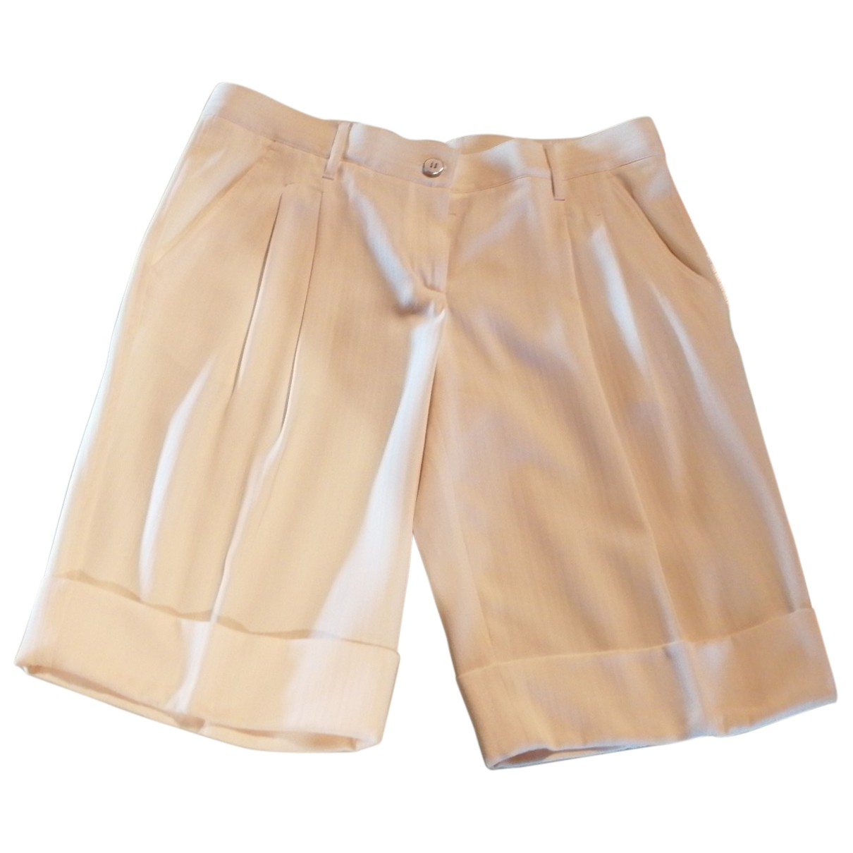 Dolce & Gabbana \N Shorts in  Beige Polyester