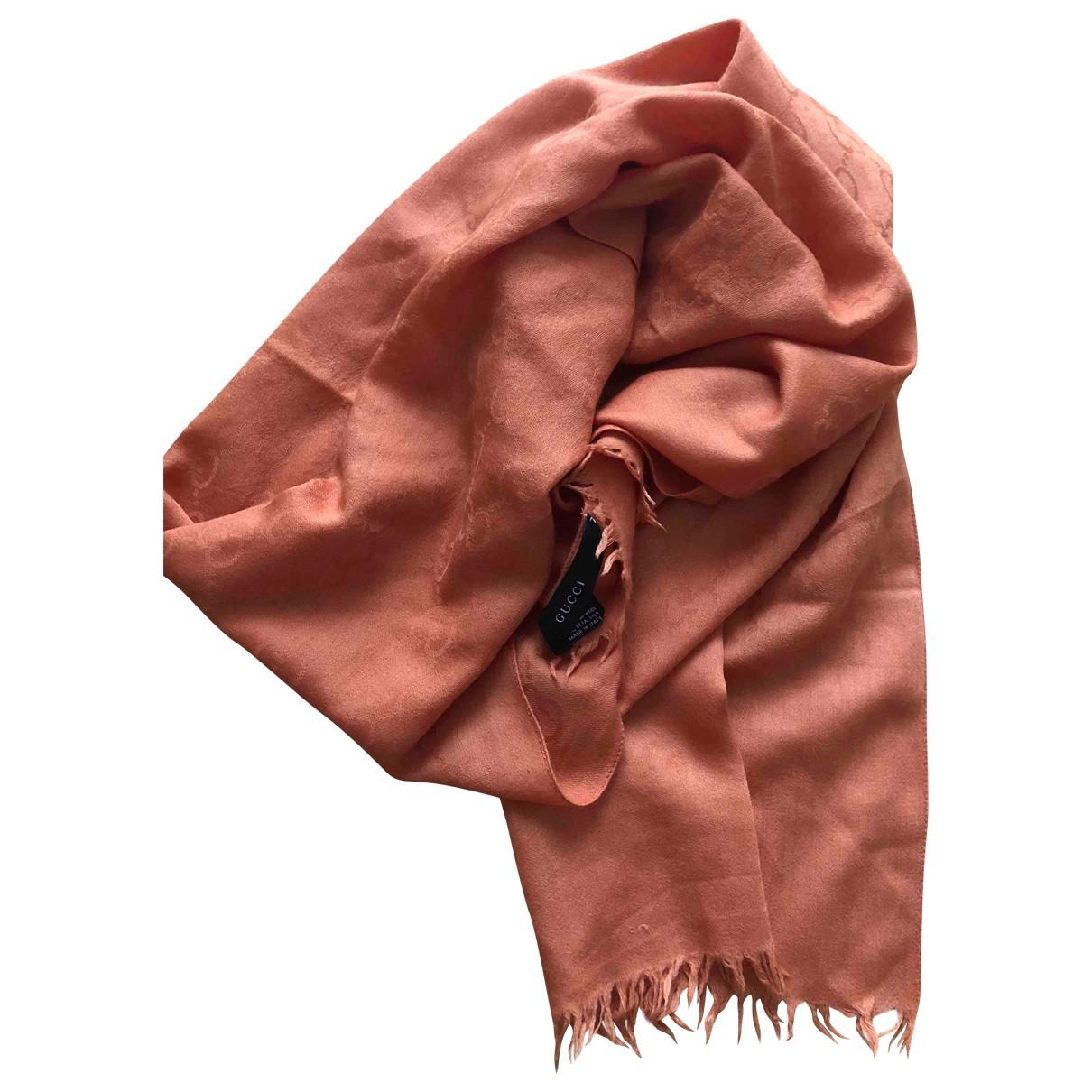 Gucci \N Schal in  Orange Wolle