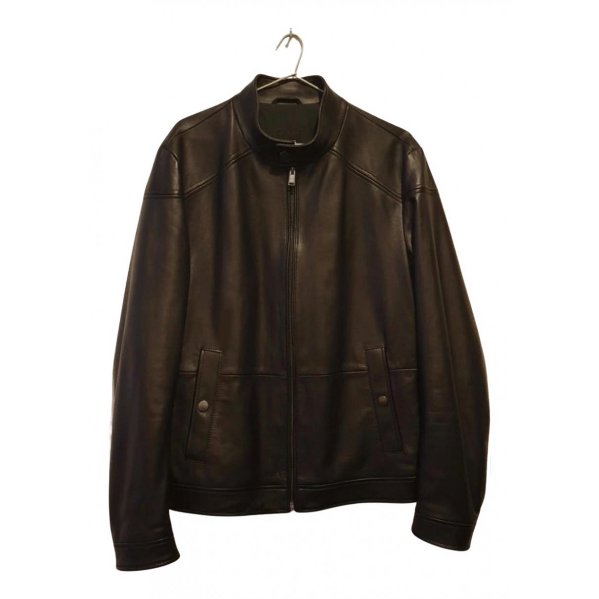 Hugo Boss N Black Leather jacket  for Men L International