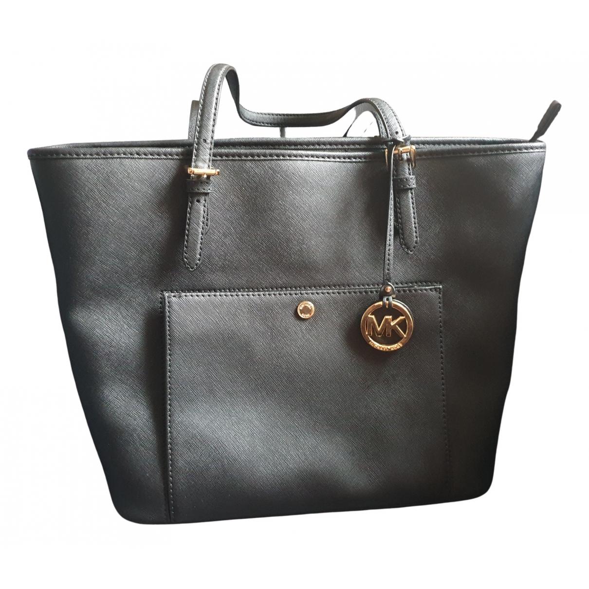 Michael Kors Jet Set Black Leather handbag for Women \N