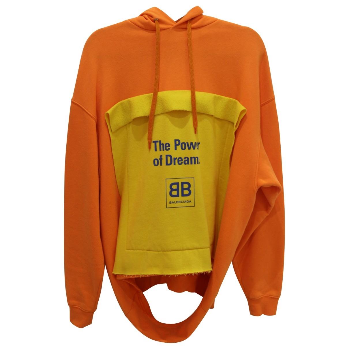 Balenciaga - Pull   pour femme en coton - orange