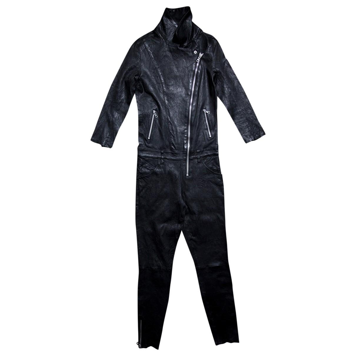 Rta \N Black Leather jumpsuit for Women S International