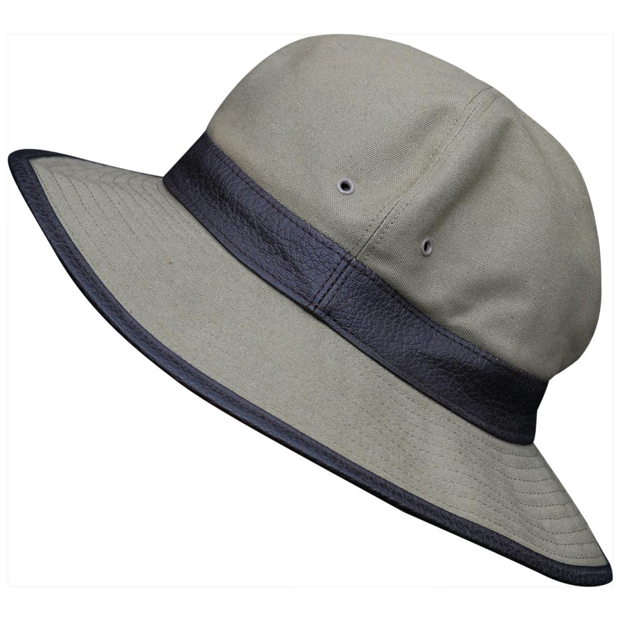 Motsch & Fils - Chapeau   pour femme en coton - kaki