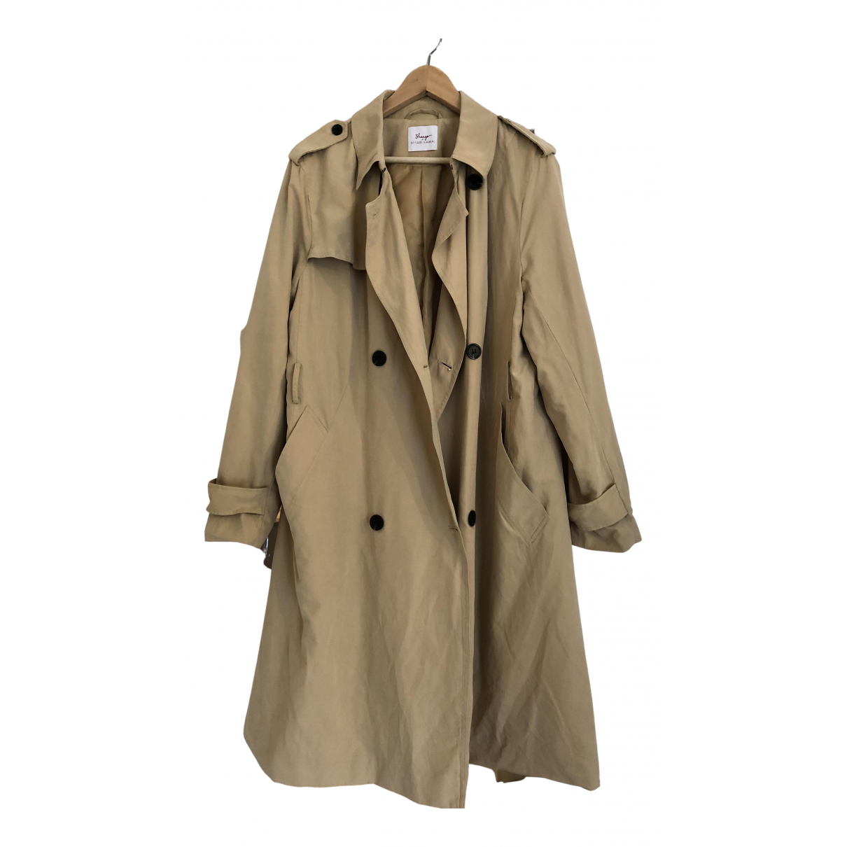 Non Signe / Unsigned \N Trench in  Beige Polyester