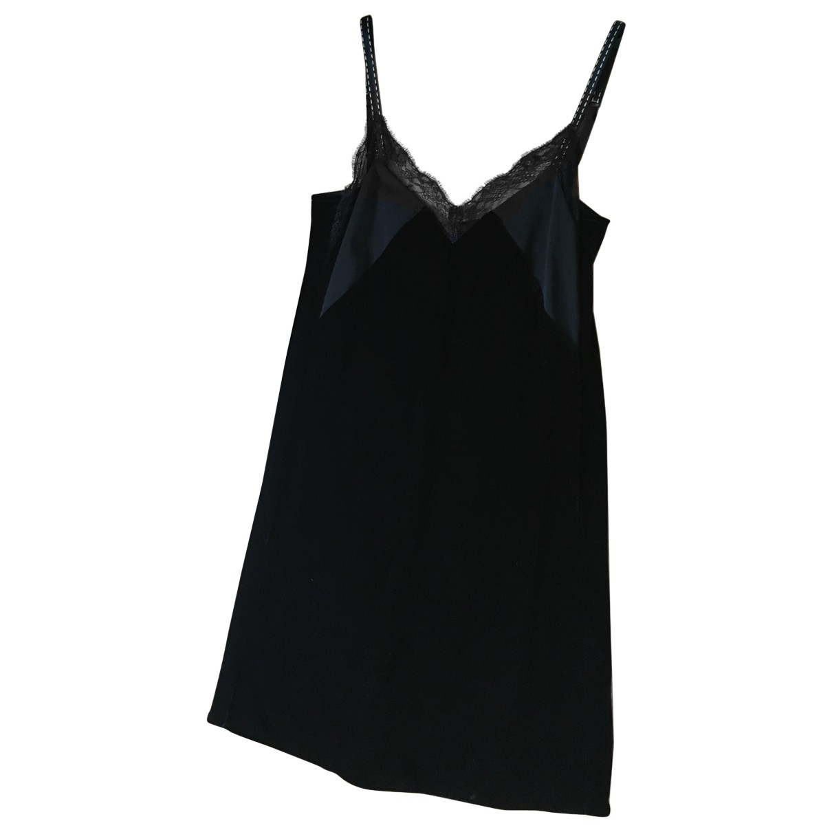 Maje \N Black Velvet dress for Women 2 0-5