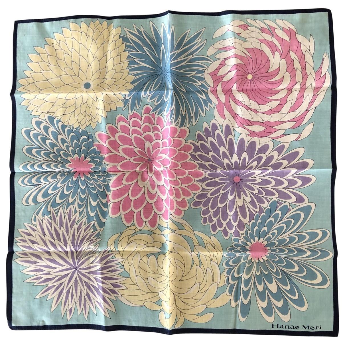 Hanae Mori \N Multicolour Cotton scarf for Women \N