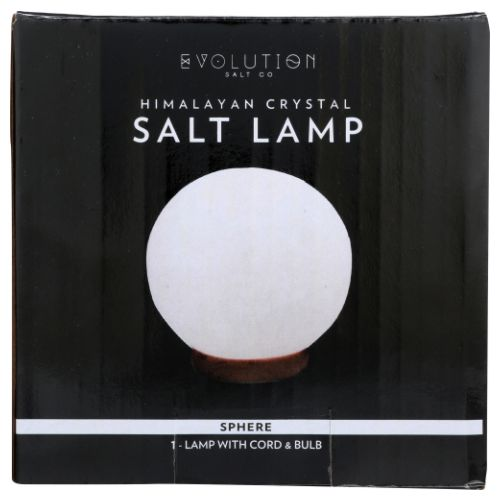 Himalayan White Sphere Crystal Lamp 6 lbs by Evolution Salt