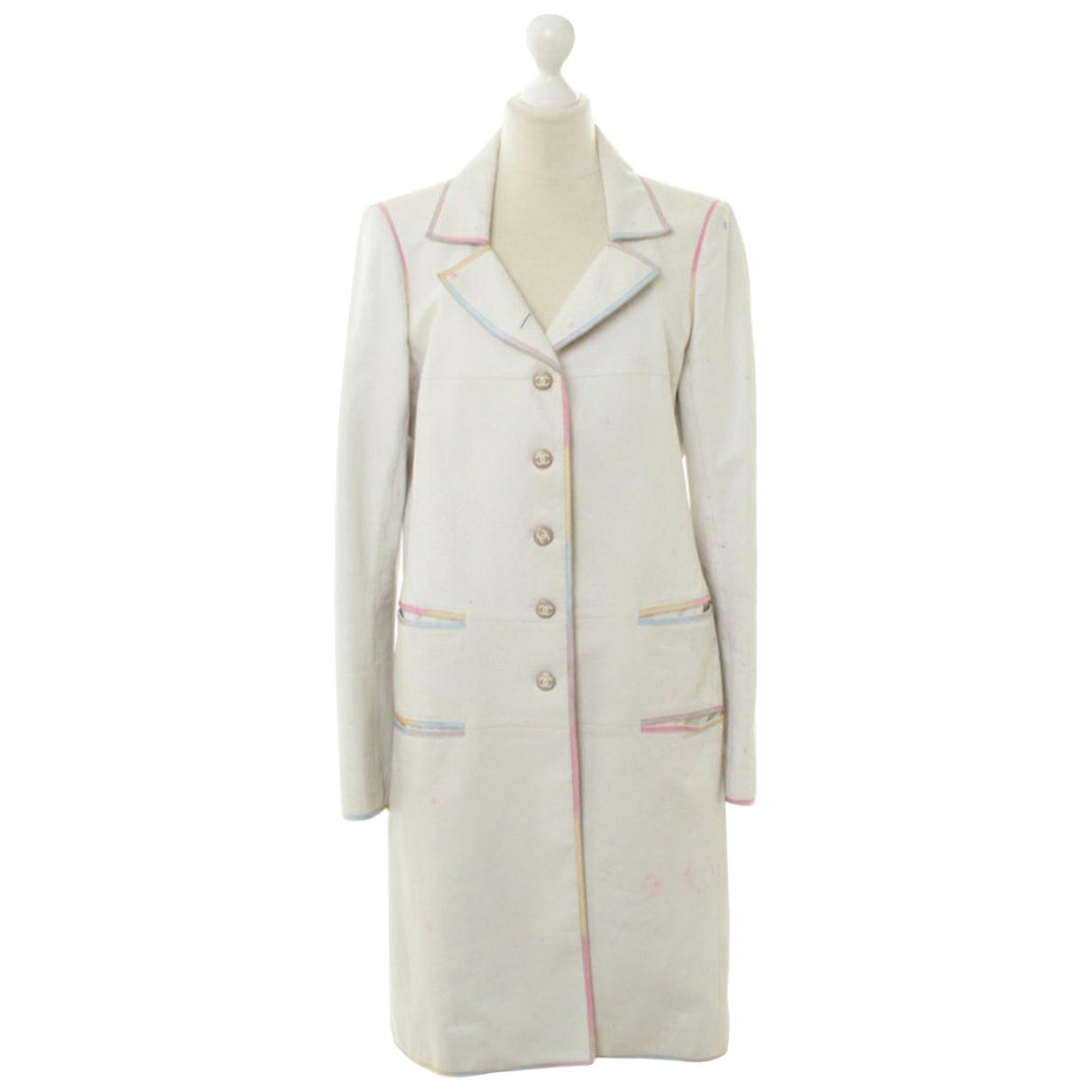 Chanel \N White Leather coat for Women 40 FR