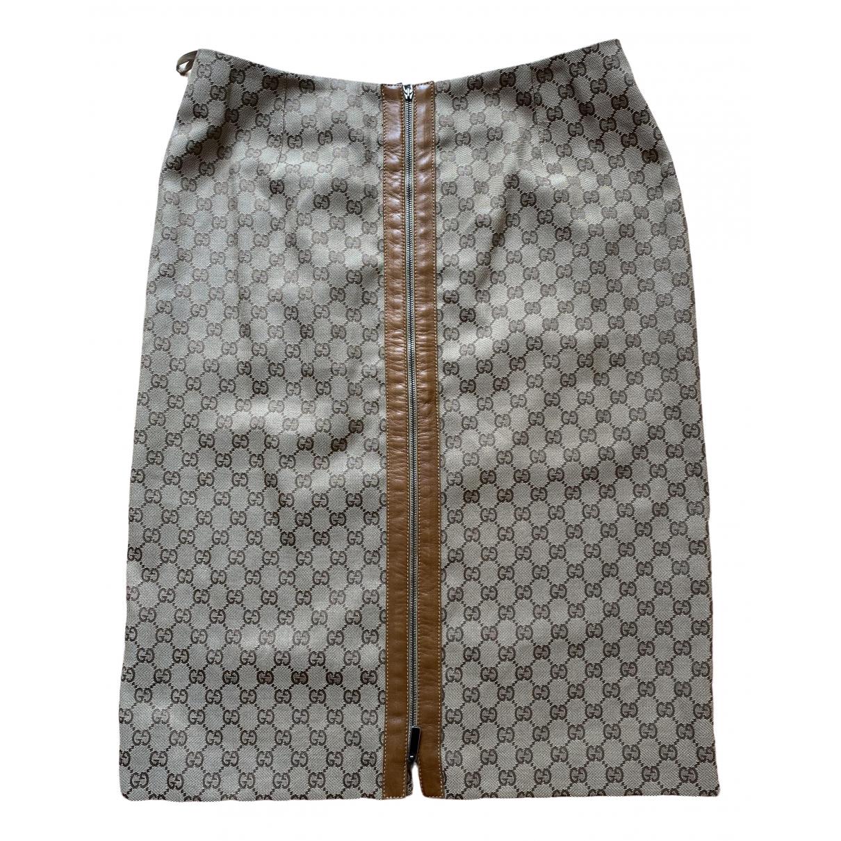 Gucci \N Rocke in  Beige Leder