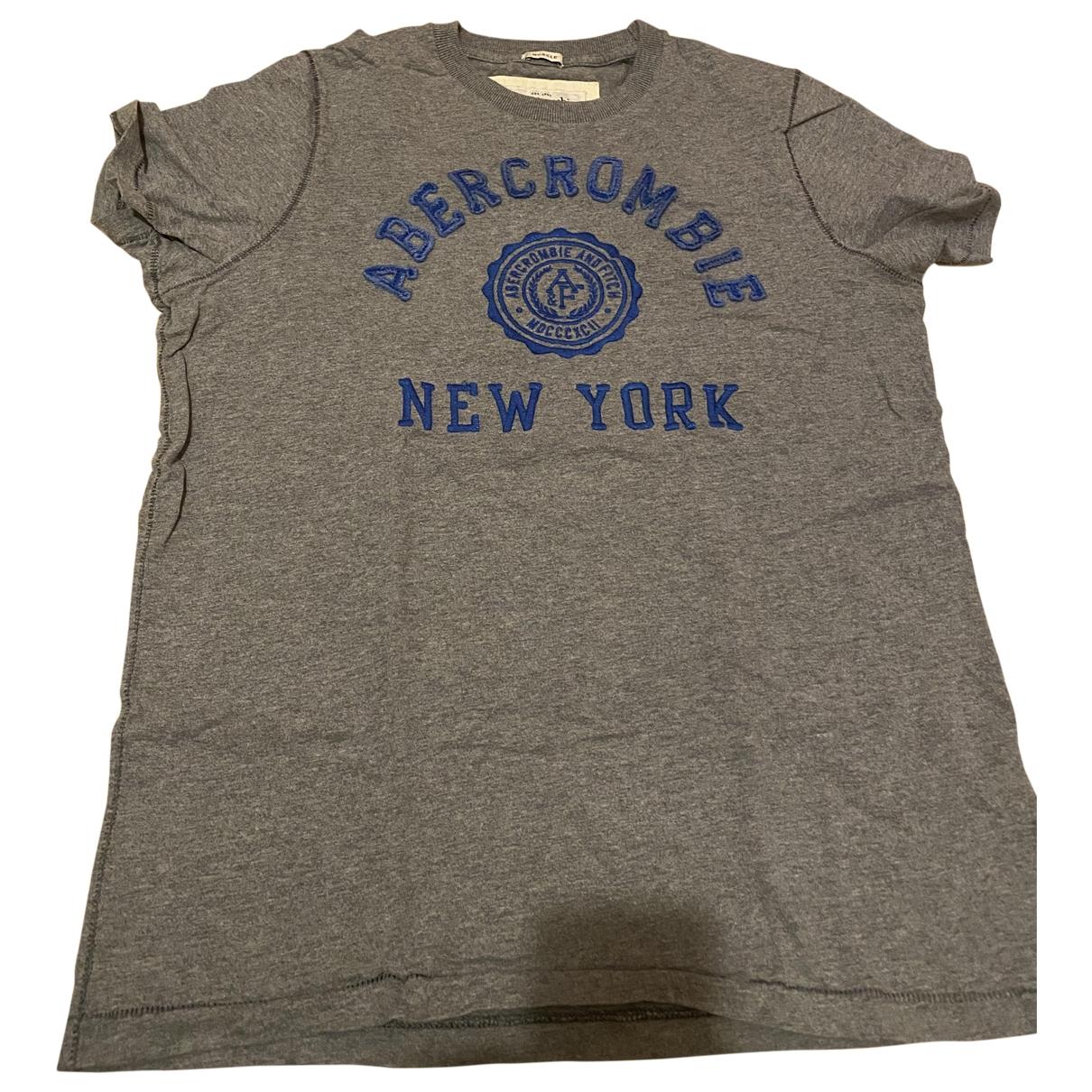 Abercrombie & Fitch - Tee shirts   pour homme en coton - gris