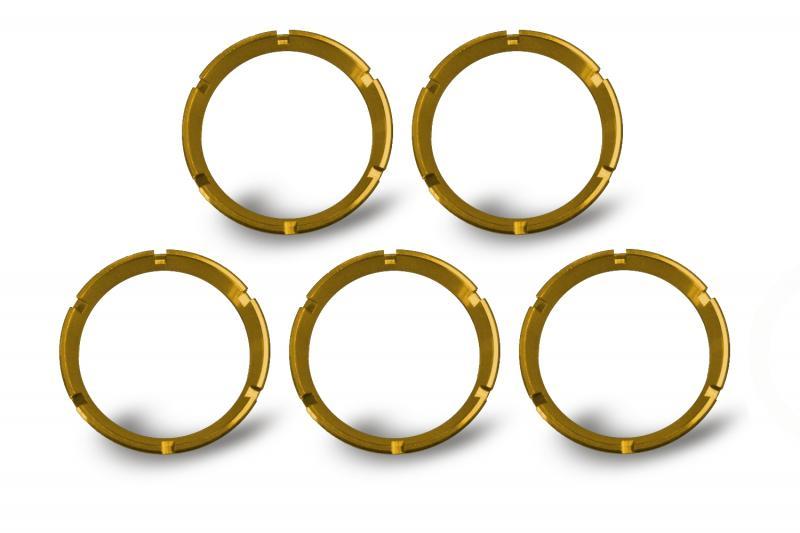 KC HiLiTES KC FLEX Bezels - Gold ED Coated (5 pack) - #30562