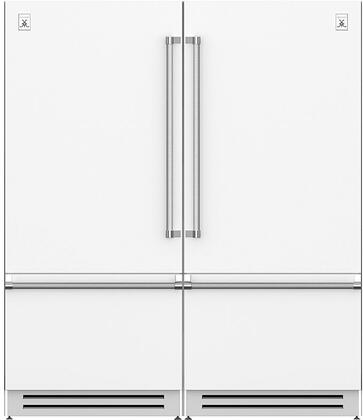 Froth White 72 Side-by-Side Refrigerator with KRBL36WH (Left Hinge) and KRBR36WH (Right