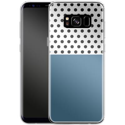 Samsung Galaxy S8 Silikon Handyhuelle - Blue Dots von caseable Designs