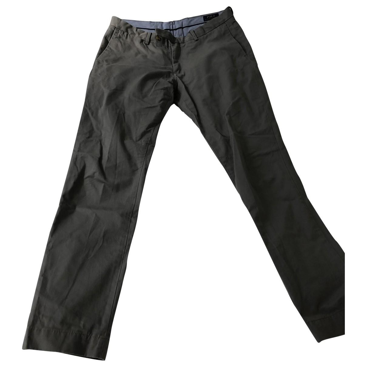 Polo Ralph Lauren - Pantalon   pour homme en coton - gris