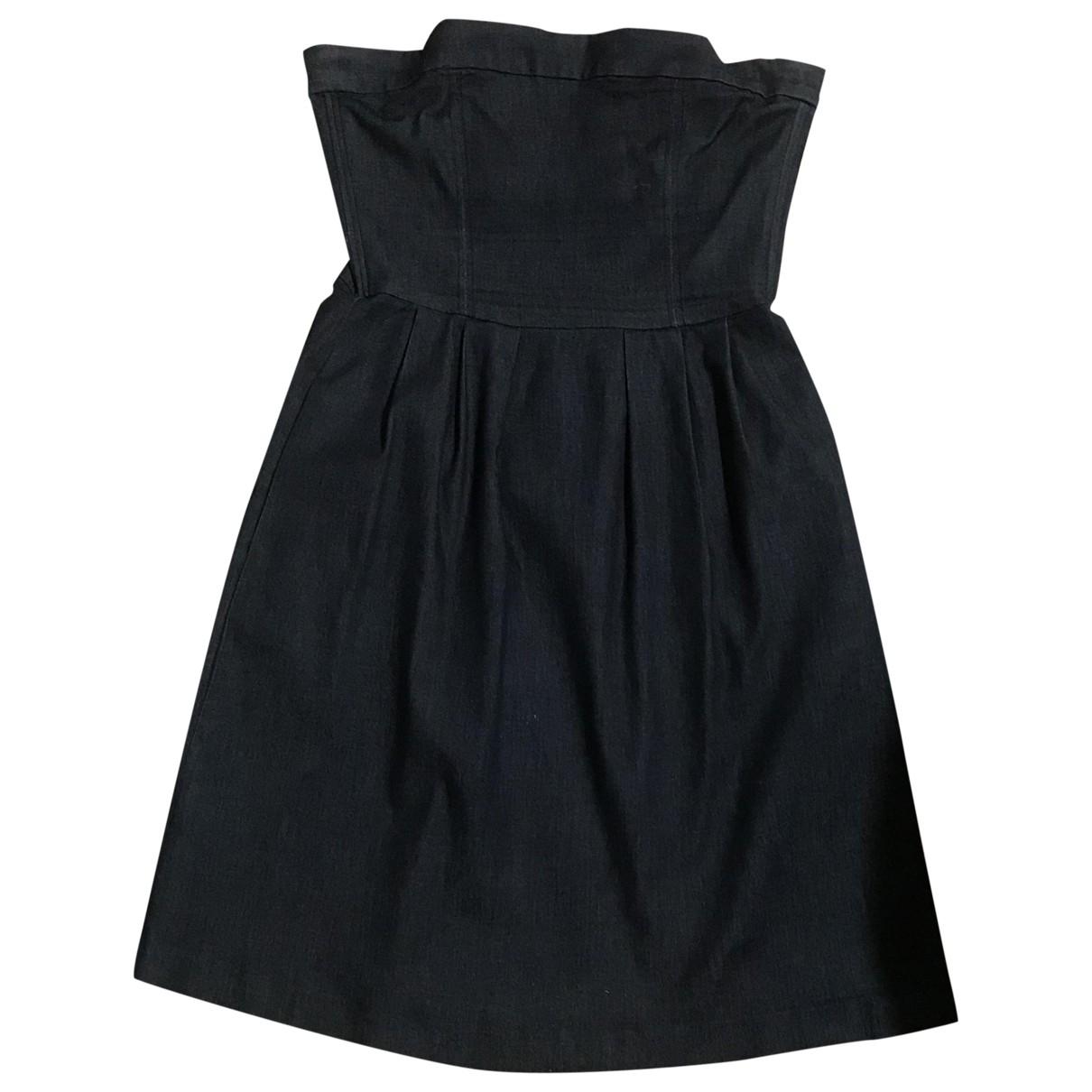 Zara - Robe   pour femme en denim - bleu