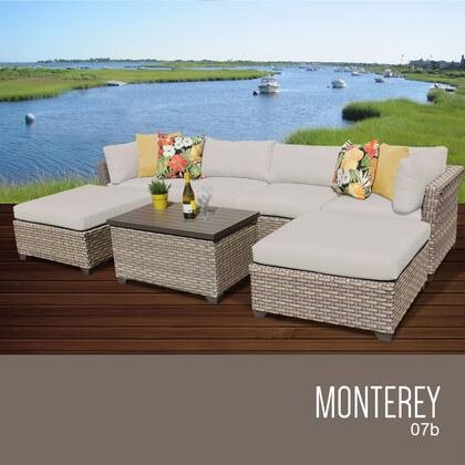 MONTEREY-07b Monterey 7 Piece Outdoor Wicker Patio Furniture Set 07b with 1 Cover in
