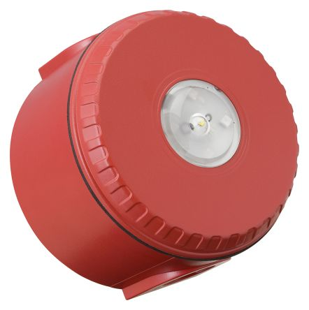 Fulleon Solista LX Red LED Beacon, 9 → 60 V dc, Flashing, Ceiling Mount