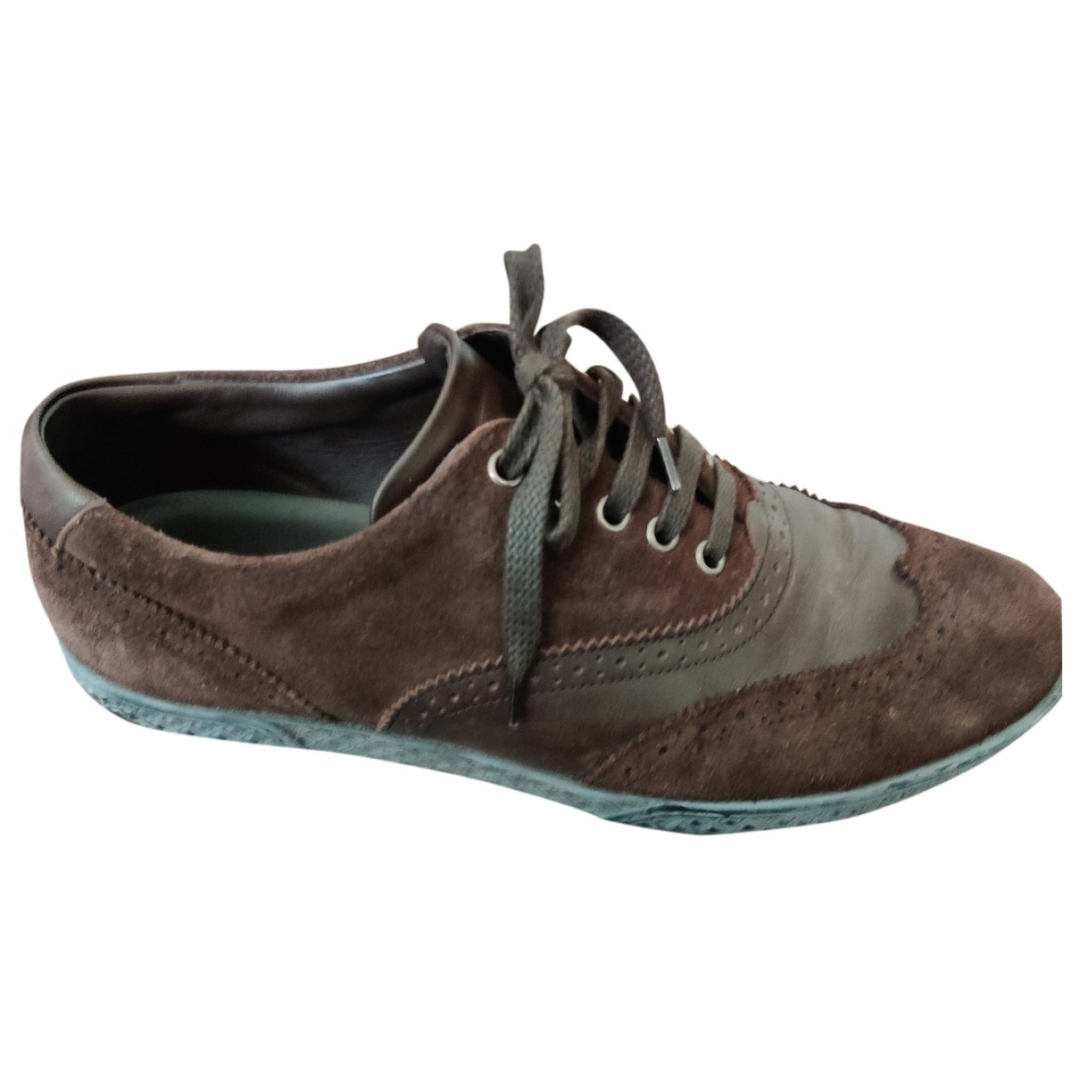 Sergio Rossi \N Brown Suede Trainers for Men 43 EU