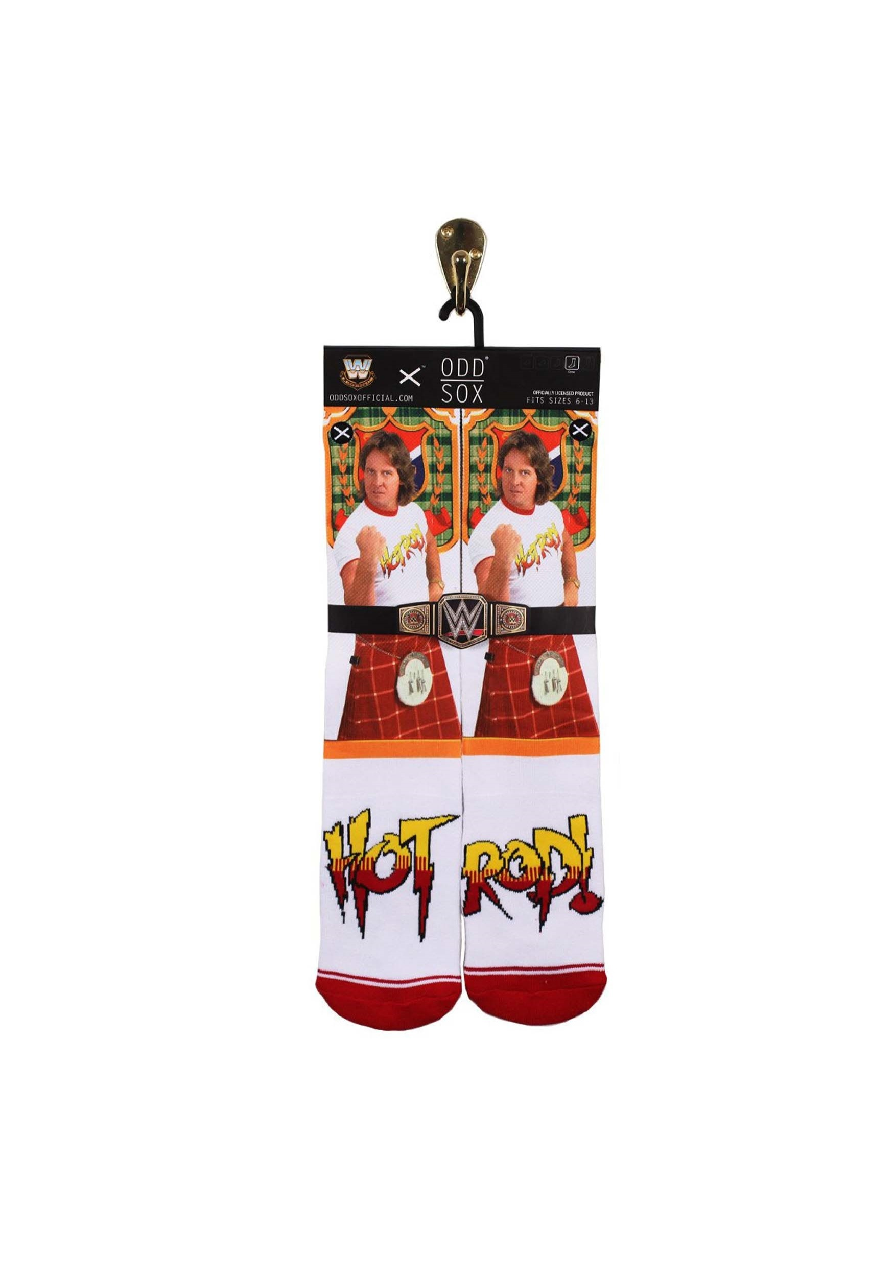 WWE Hot Rod Sublimated Socks Odd Sox For Adults