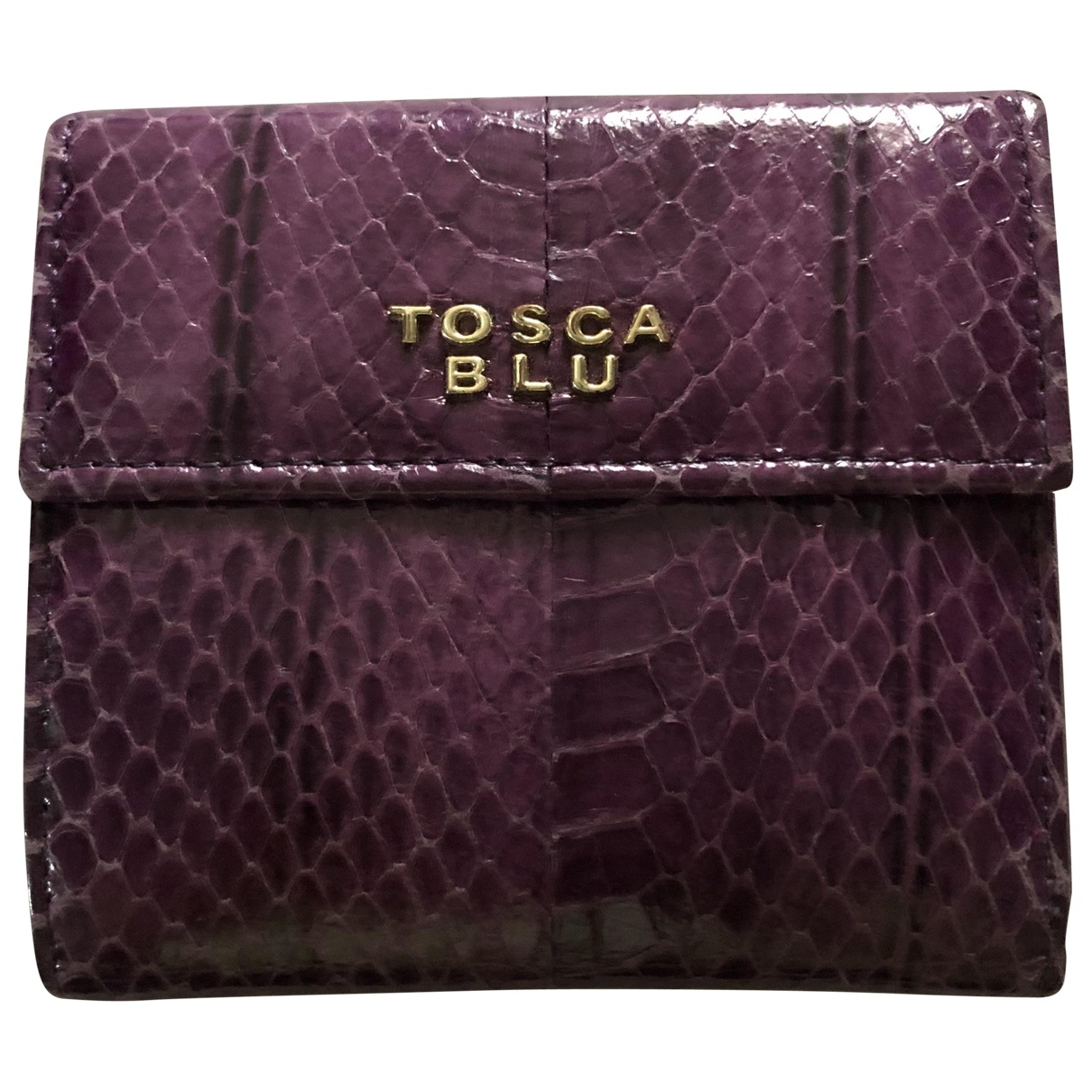 Tosca Blu \N Portemonnaie in  Lila Python