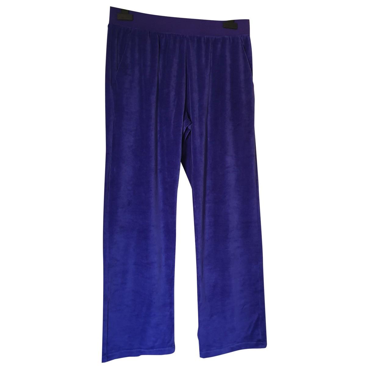 Versace \N Purple Velvet Trousers for Women 46 IT