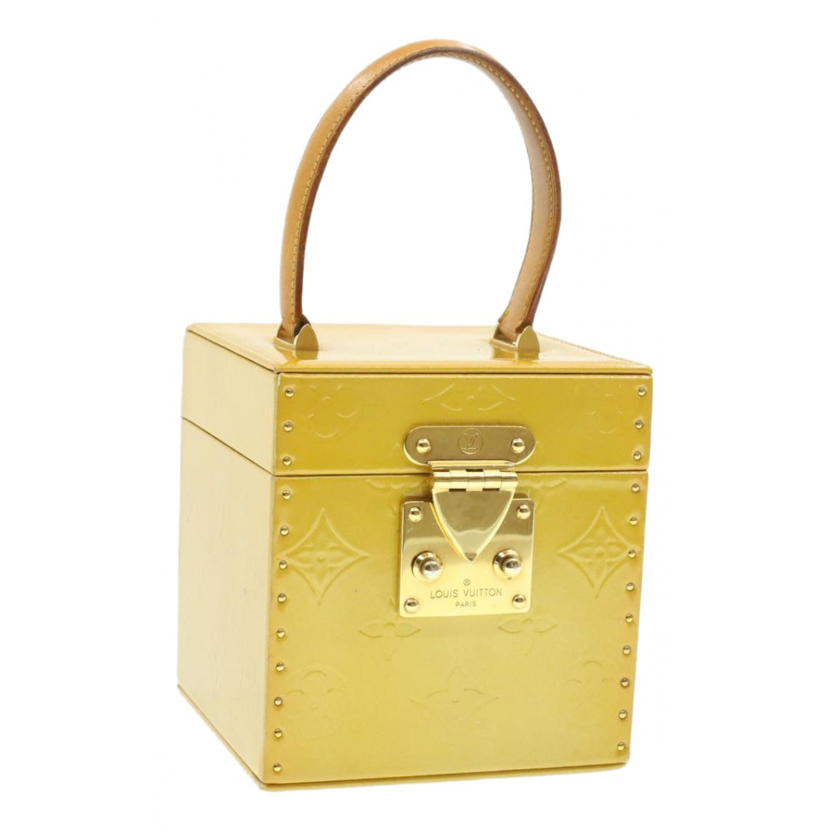 Louis Vuitton Bleecker Yellow Patent leather handbag for Women N