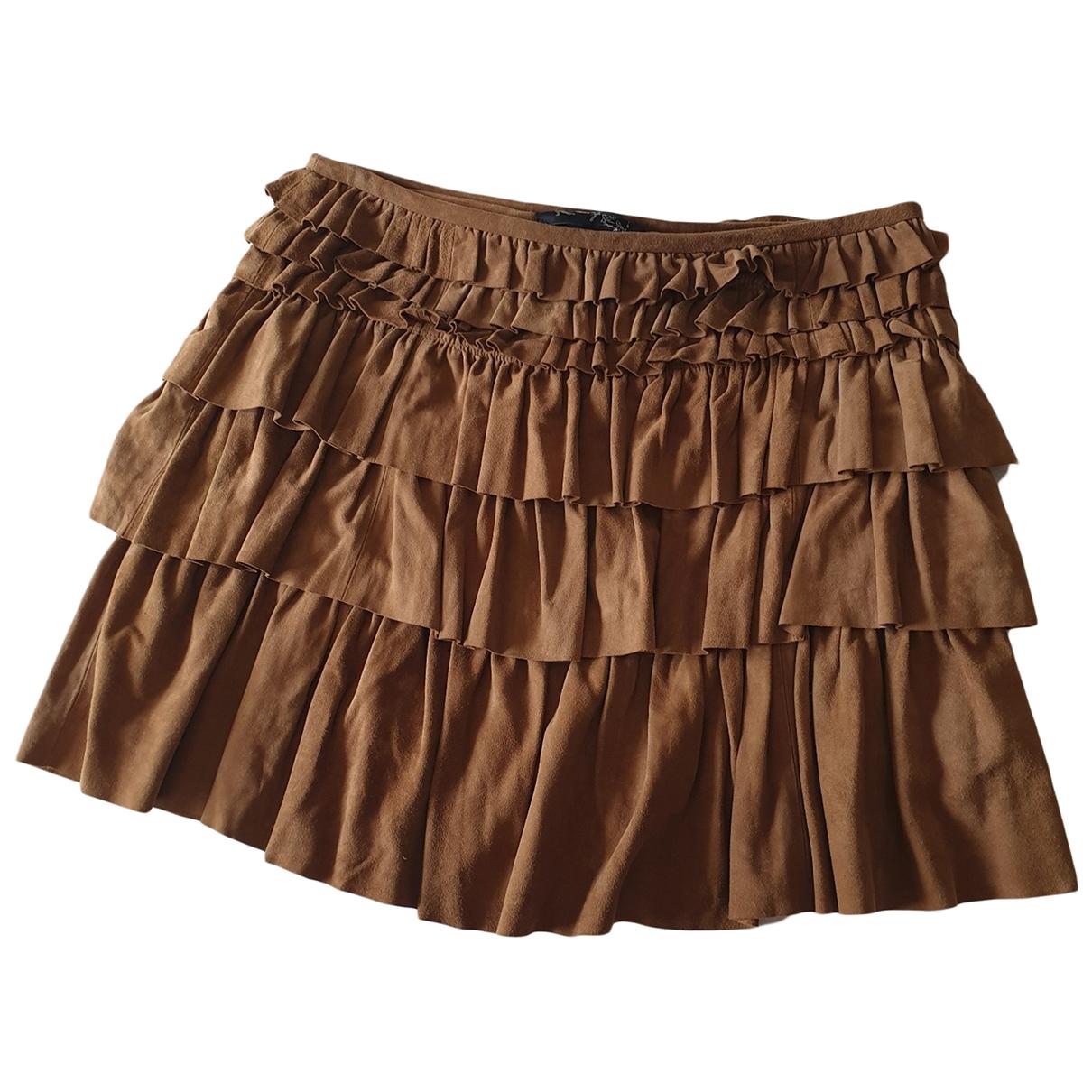 K-yen \N Camel Suede skirt for Women 40 FR