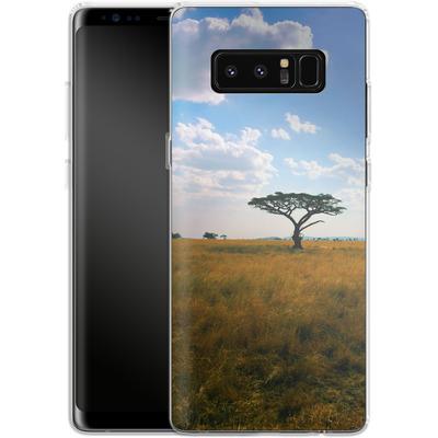 Samsung Galaxy Note 8 Silikon Handyhuelle - Tanzanian Savanna von Omid Scheybani