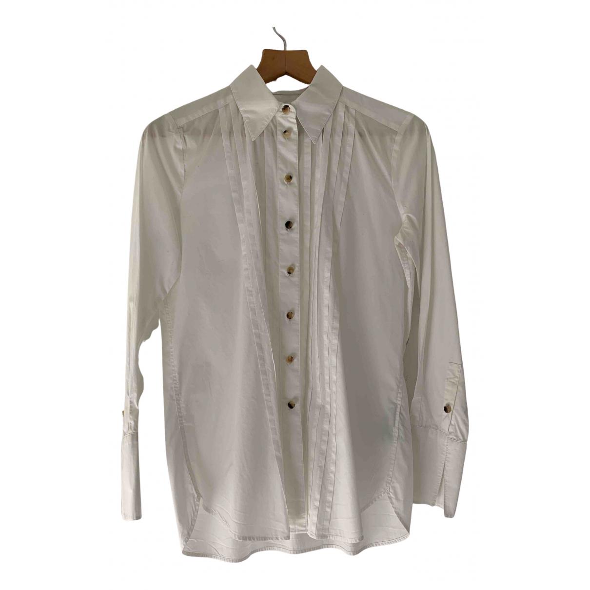 J Brand - Top   pour femme en coton - blanc