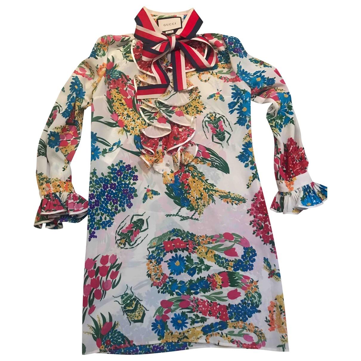 Gucci - Robe   pour femme en soie - beige