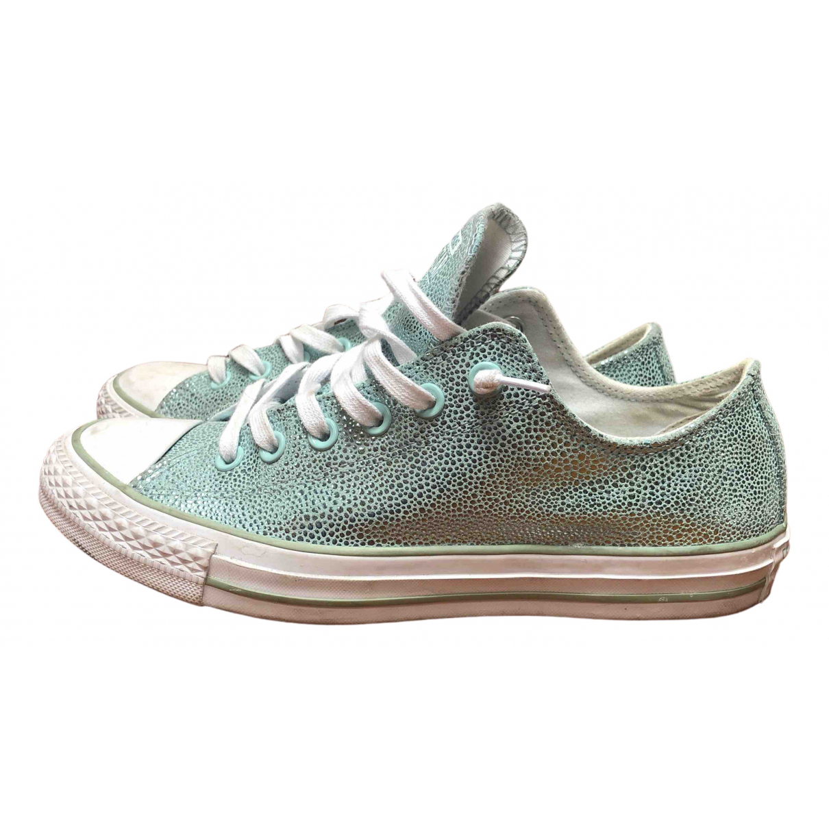 Converse \N Sneakers in  Metallic Veloursleder