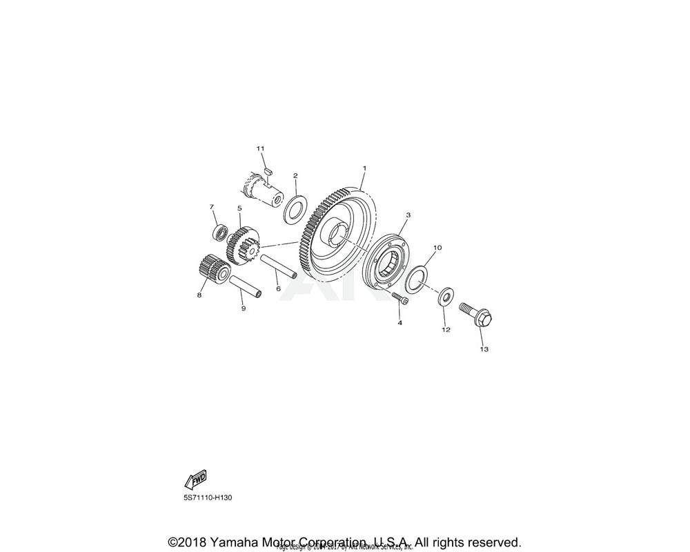 Yamaha OEM 3D8-15512-01-00 GEAR, IDLER 1