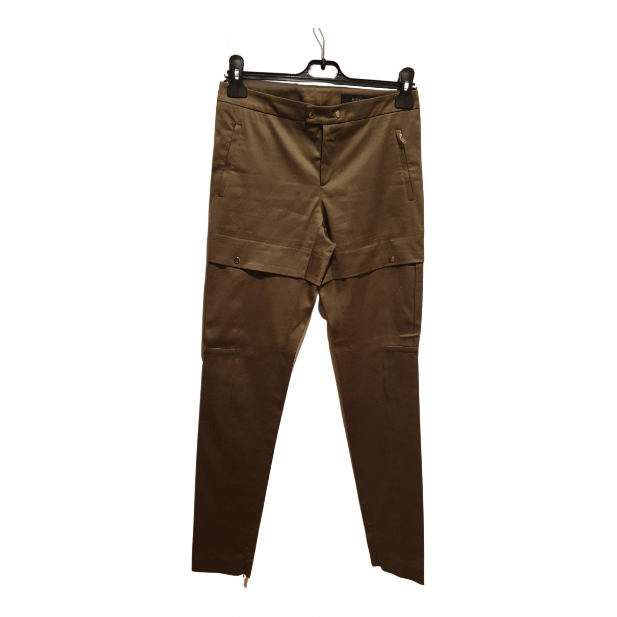 Gucci N Green Cotton Trousers for Women 38 FR