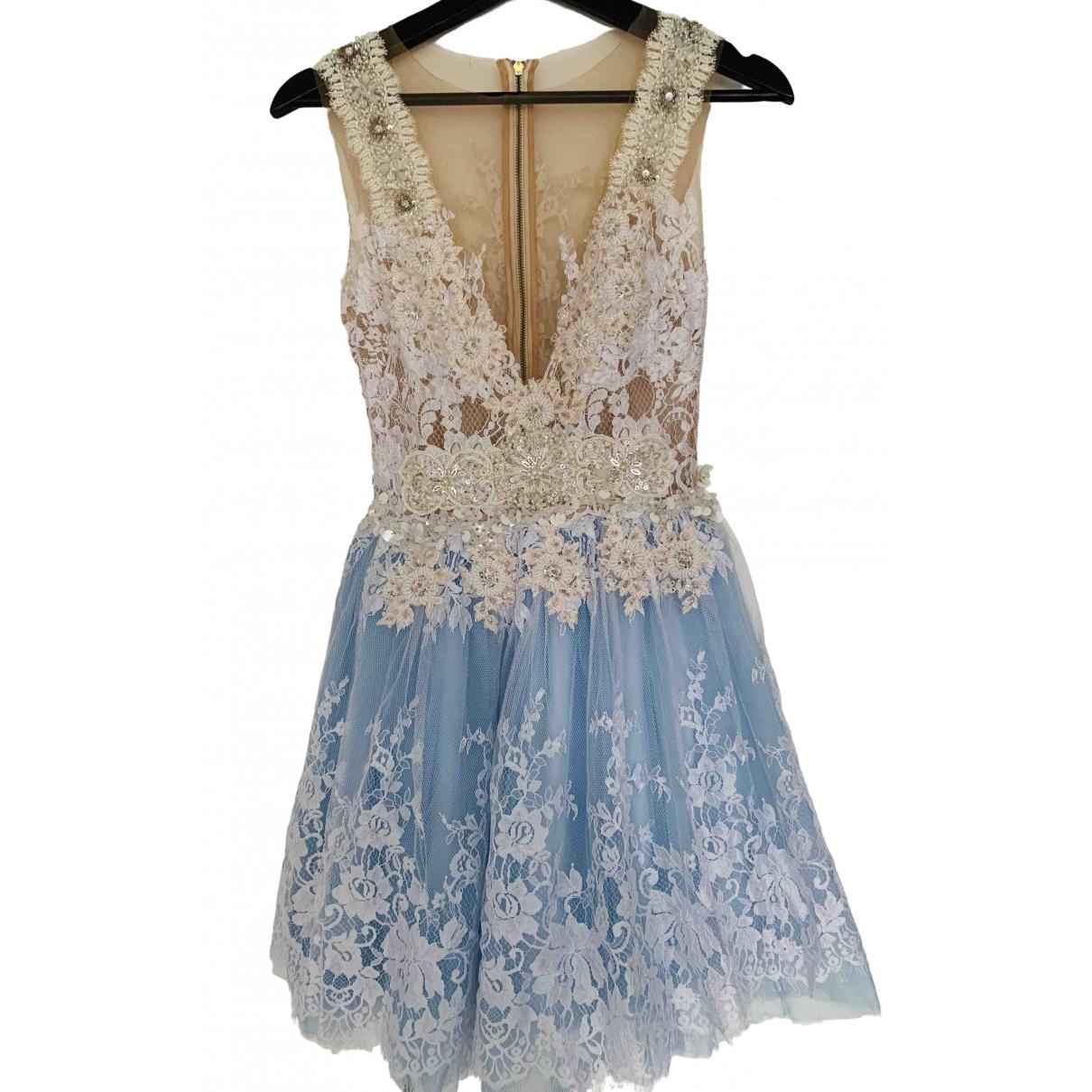 Non Signe / Unsigned \N Kleid in  Blau Spitze