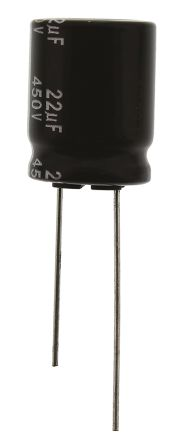 Panasonic 22μF Electrolytic Capacitor 450V dc, Through Hole - EEUED2W220S (5)