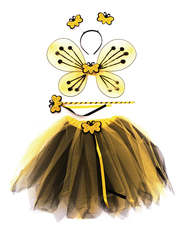 Kostuemzubehor Bienen-Set gelb 4-tlg.