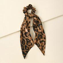 Scrunchie Schal mit Leopard Muster