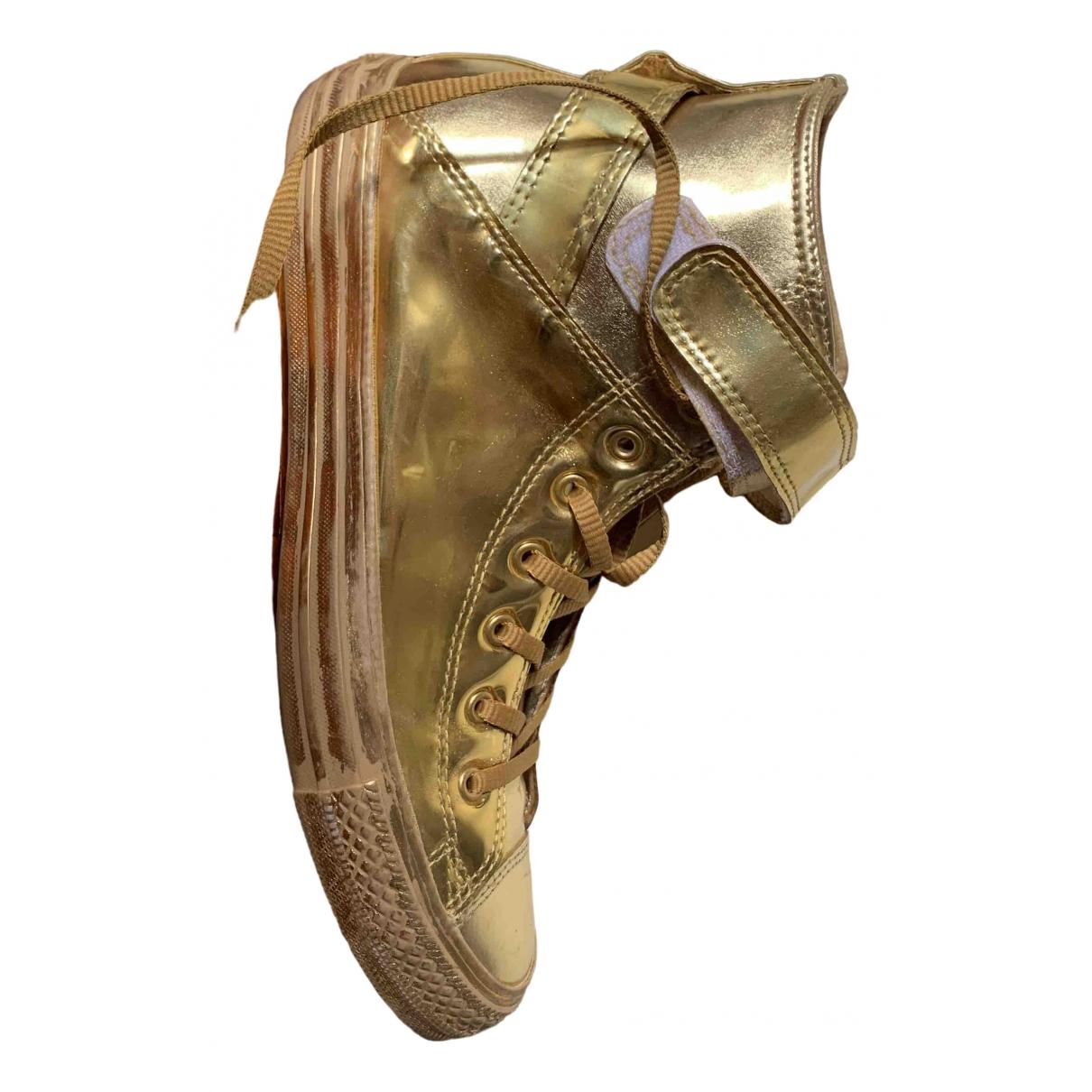 Converse \N Sneakers in  Gold Leder