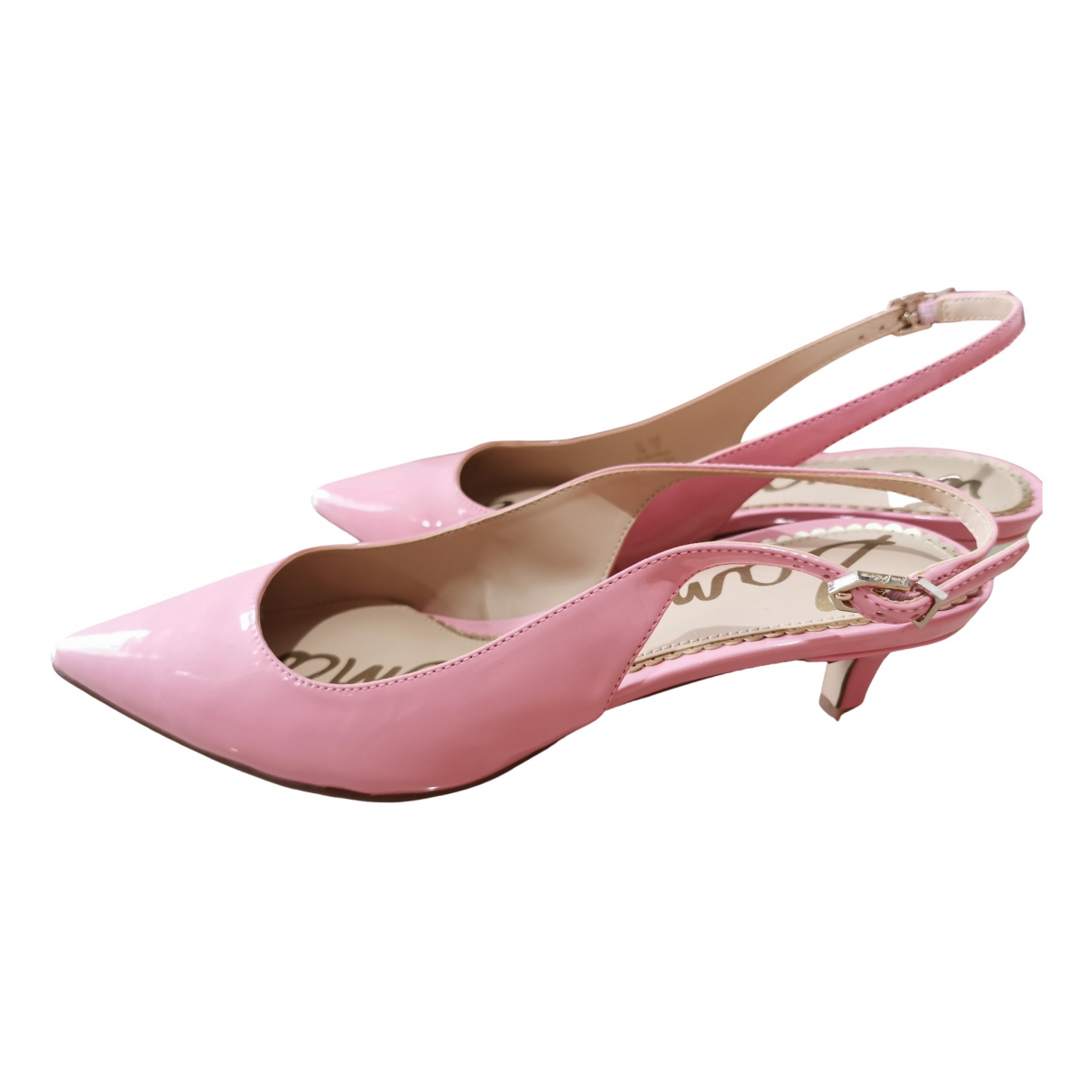Sam Edelman \N Pink Patent leather Heels for Women 37 EU