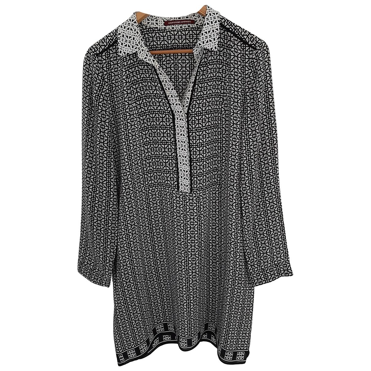 Comptoir Des Cotonniers \N Kleid in  Schwarz Seide