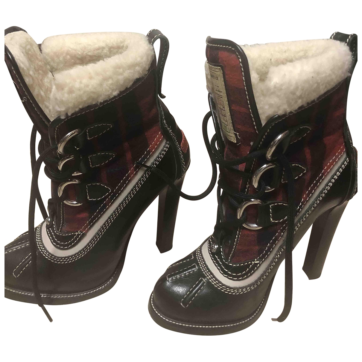 Dsquared2 \N Multicolour Leather Ankle boots for Women 34 EU