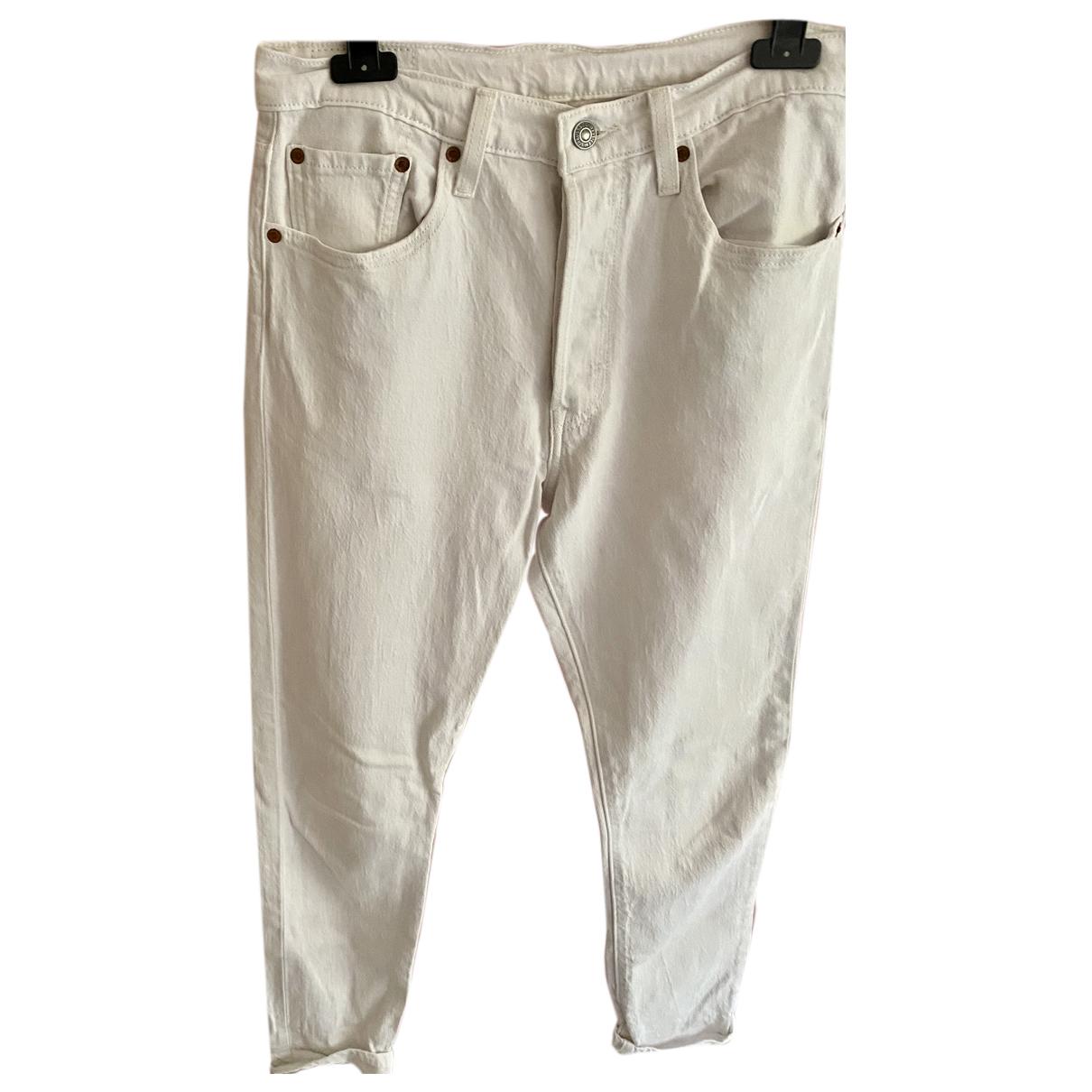 Levi's 501 White Cotton Jeans for Women 38 FR