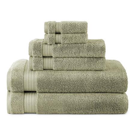 Linden Street Organic Bath Towel, One Size , Green